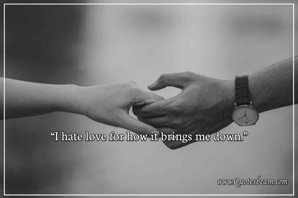 I hate love quotes